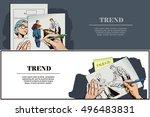 stock illustration. people in... | Shutterstock .eps vector #496483831