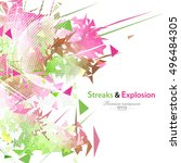 streaks and explosion creative... | Shutterstock .eps vector #496484305