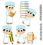 child from oman  | Shutterstock .eps vector #496484884