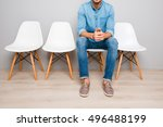 close up of man in jeans... | Shutterstock . vector #496488199