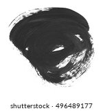 brush stroke and texture. smear ... | Shutterstock . vector #496489177