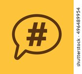 the hashtag icon. social... | Shutterstock . vector #496489954