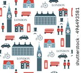 london vector seamless pattern | Shutterstock .eps vector #496493581