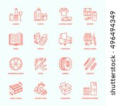 modern vector thin line icons...