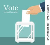 voting  election concept.vector ... | Shutterstock .eps vector #496496095
