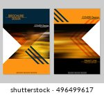vector brochure cover templates ... | Shutterstock .eps vector #496499617