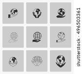 hand hold globe | Shutterstock .eps vector #496503361