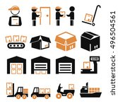 pack  package  packaging icon... | Shutterstock .eps vector #496504561