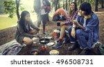 people friendship hangout... | Shutterstock . vector #496508731