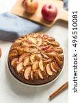 homemade apple pie with cinnamon   Shutterstock . vector #496510081