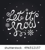 let it snow. christmas... | Shutterstock .eps vector #496512157