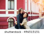 girl friends   spend a fun time ... | Shutterstock . vector #496515151