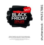 black friday sale inscription... | Shutterstock .eps vector #496517881
