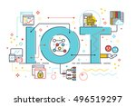 internet of things  internet... | Shutterstock .eps vector #496519297