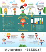 children activity poster... | Shutterstock . vector #496520167