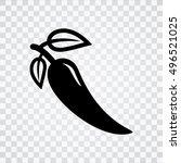 pepper icon | Shutterstock .eps vector #496521025