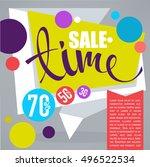 sale time  vector discount... | Shutterstock .eps vector #496522534