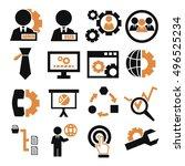 system  user  administrator... | Shutterstock .eps vector #496525234