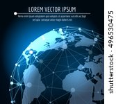 vector global connection... | Shutterstock .eps vector #496530475
