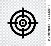 target aim symbol icon | Shutterstock .eps vector #496530847