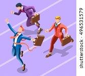 winner man startup win concept... | Shutterstock .eps vector #496531579