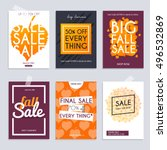 fall sale. set media banners... | Shutterstock .eps vector #496532869