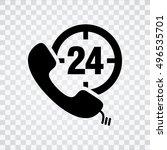 24h call center icon | Shutterstock .eps vector #496535701