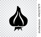 garlic icon   Shutterstock .eps vector #496537879