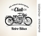 retro motorbike emblems and... | Shutterstock .eps vector #496540201