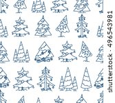 winter forest seamless pattern.