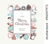 vector card or invitation... | Shutterstock .eps vector #496547971