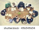 doctor brainstorming diagnosis... | Shutterstock . vector #496549654