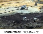 Open Pit Coal Mine With Heavy...
