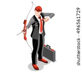 job role isolated businessman... | Shutterstock .eps vector #496561729