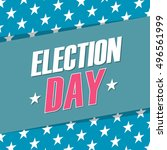 usa election day banner. vector ... | Shutterstock .eps vector #496561999