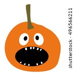 Halloween Pumpkin Icon Pumpkin...
