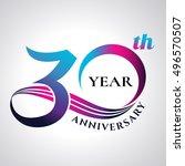 anniversary emblems 30 in... | Shutterstock .eps vector #496570507