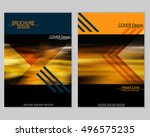 vector brochure cover templates ... | Shutterstock .eps vector #496575235