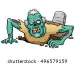 vector illustration of cartoon... | Shutterstock .eps vector #496579159