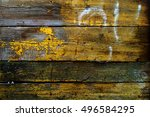 texture of old wooden fence... | Shutterstock . vector #496584295