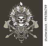 vector illustration of a dead... | Shutterstock .eps vector #496586749