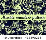 marble seamless pattern. hand... | Shutterstock .eps vector #496590295