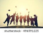graduation college school...   Shutterstock . vector #496591225