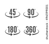 angle degrees icons vector... | Shutterstock .eps vector #496599001