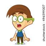 shocked nerd geek | Shutterstock .eps vector #496599307