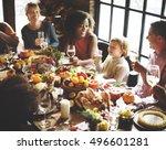 thanksgiving celebration... | Shutterstock . vector #496601281
