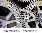 macro photo of tooth wheel... | Shutterstock . vector #496604521