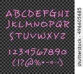 calligraphy lettering style... | Shutterstock .eps vector #496605685
