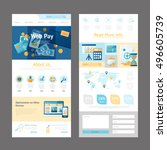 pages template design of... | Shutterstock .eps vector #496605739