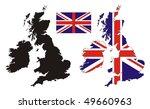 United Kingdom Map Flag Design